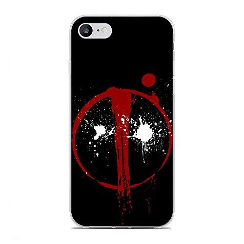 X-Art Transparent Case for Apple iPhone 7/8, Anti-Deadpool X-Weapon 7 Fundas Slim Silicone Liquid Flexible Cover
