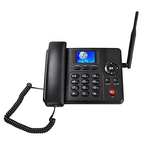 DSJGVN Teléfono Inalámbrico De Escritorio gsm, Teléfono Residencial gsm En Negro, Doble SIM, Pantalla De Identificación De Llamadas, con Ranura para Tarjeta SIM, Función SMS, para Negocios O Familia