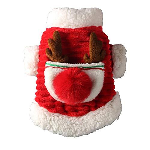XPC-huisdieren kleding hond kat kerst kostuum grappige huisdier kostuums pak puppy fleece fluweel outfits warme jas dier kleding kleding kleding