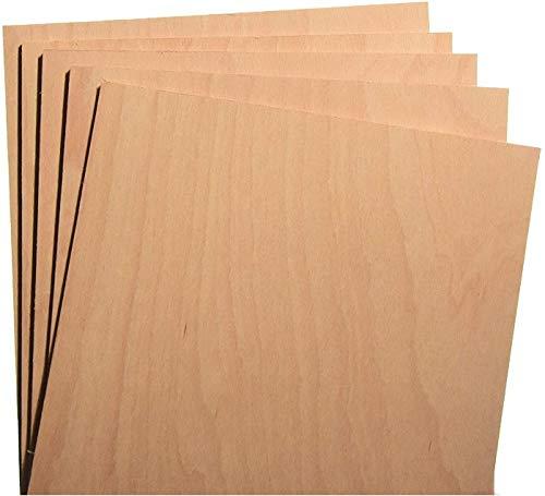 Hagspiel Sperrholzplatten, 10 St. Buche Sperrholz ca. 17x30 cm 4 mm