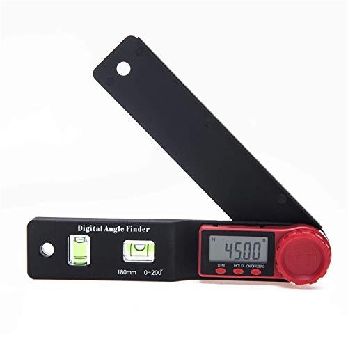 Transportadores 0-180mm 0-200° Medidor digital Ángulo Inclinómetro Ángulo Regla Digital Electron Goniómetro Transportador Herramienta de medición para la construcción de carpintería