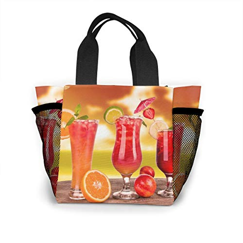 Lunch Bag Best-fruits-juice-glass For Men Women, Meal Lunch Tote Handbag Food Boxes, Durable Pouch For Outdoor