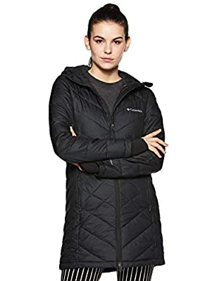 Columbia Women's Heavenly Long Hooded Jacket, Black, X-Large