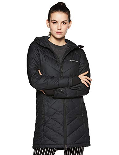 Columbia Women's Heavenly Long Hooded Jacket, Black, X-Large