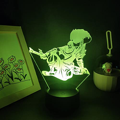 3D-Illusionslampe Led Nachtlicht Lol Game Figure The Unforgian Yasuo Rgb Neon Birthday Creative Gift Bed Room Table Lamp Colorful Decoration League By Legends