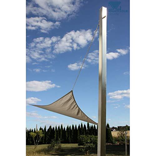 P84 Design, Sonnensegelmast, Edelstahl, Masthöhe 2,5 m, 2 Aufhängungen