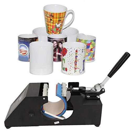 Impresora de Tazas, 11oz 0~299 ℃ 0~999s Máquina de Prensa de Calor Digital Profesional Ajustada…