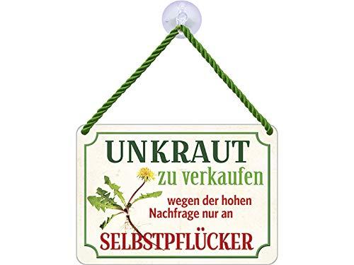 Blechwaren Fabrik Braunschweig Kulthänger Unkraut Selbstpflücker KH038