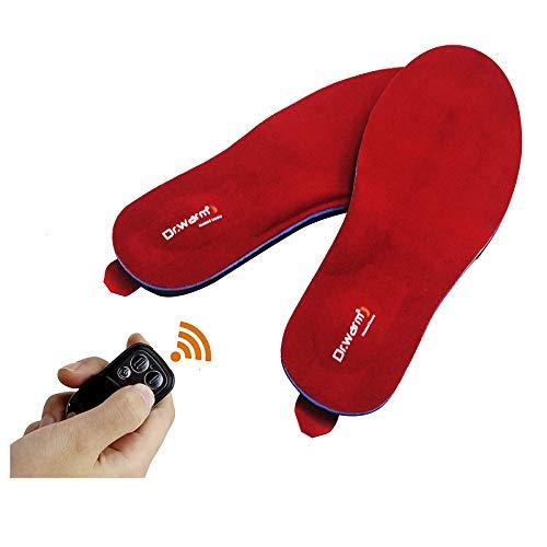 Dr.Warm - Solette termiche riscaldabili con telecomando intelligente senza fili, ricaricabili tramite USB, per scarpe da sci, escursioni, pesca, unisex,...