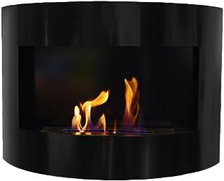 Design Fireplace RIVIERA Deluxe Black Bio Ethanol Gel Fire Place by Deka