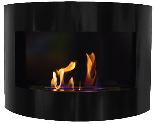 Design Fireplace RIVIERA Deluxe Black Bio Ethanol Gel Fire Place by Deka