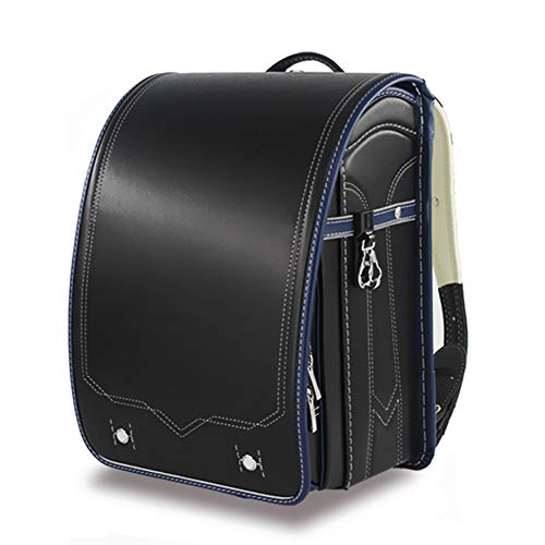 Ransel Randoseru Semi-automatic Japanese school bags PU leather for girls boys