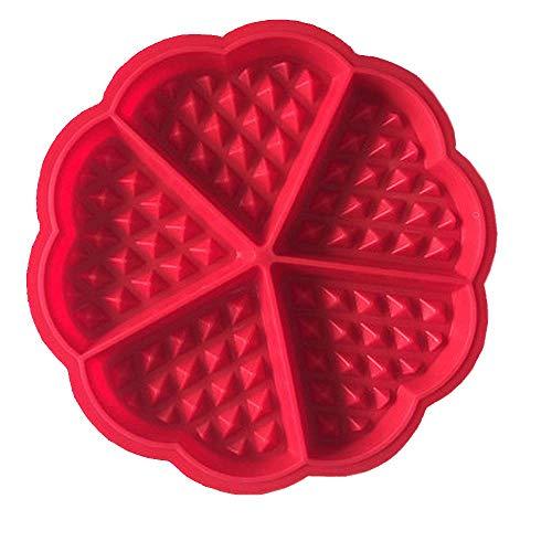 Hanseatic Consumables Moule à gaufres en silicone forme cœur, 17,5 x 1,5 cm, avec revêtement anti-adhésif, silicone alimentaire sans BPA, sans goût, sans odeur