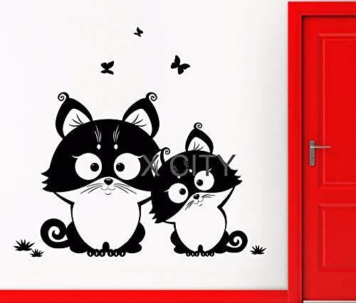 zhuziji Niedliche Kawii Japan Palm Civet Katze Cartoon Design für Kinder WANDKUNST Aufkleber Cut...