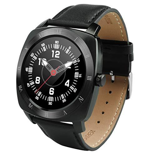 Künstliche intelligente Smartwatch Domino DM88 Bluetooth V4.0 Herzfrequenz-Smart Watch für iOS/Android-Handy, Schrittzähler/Schlafmonitor/Sitzende Erinnerung/Anti-Lost/Kamera-Fernbedienung (