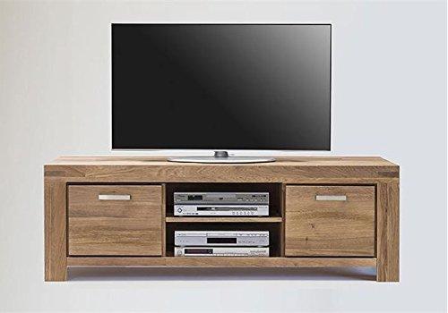 TV Kommode Lowboard KIROYAL Wildeiche massiv geölt Breite 155 cm.