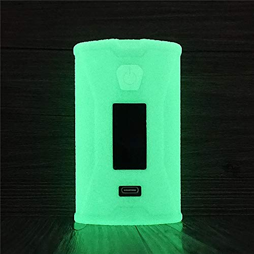 DSC-Mart Texture Case for SX Mini X Class Auto-Squonker Powered by YiHi SX620J Protective Silicone Rubber Sleeve Cover Shield Wrap (Glow in The Dark)