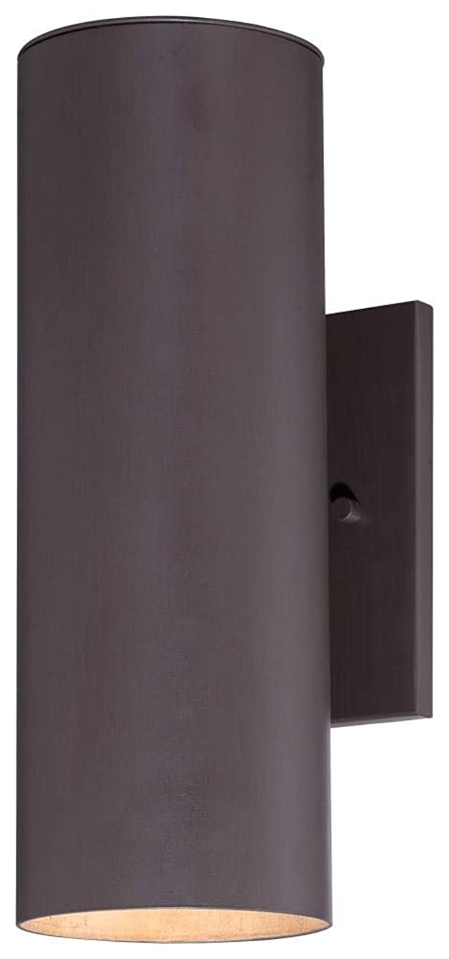 Minka Great Outdoors 72502-615B-PL Skyline - Two Light Outdoor Wall Mount, Dorian Bronze Finish with Clear Glass