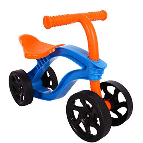 De 4-wheel kinderen push scooter loopfiets wandelaar kindje scooter kinderen buiten rijden speelgoed auto slijtvast, beschikbaar voor 1-2 jaar oud