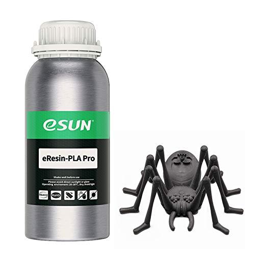 eSUN, stampante 3D ad alta precisione a base vegetale in resina rapida LCD UV polimerizzazione resina 405nm biodegradabile PLA resina per schermo monocromatica fotopolimero resina liquida, 500g nero