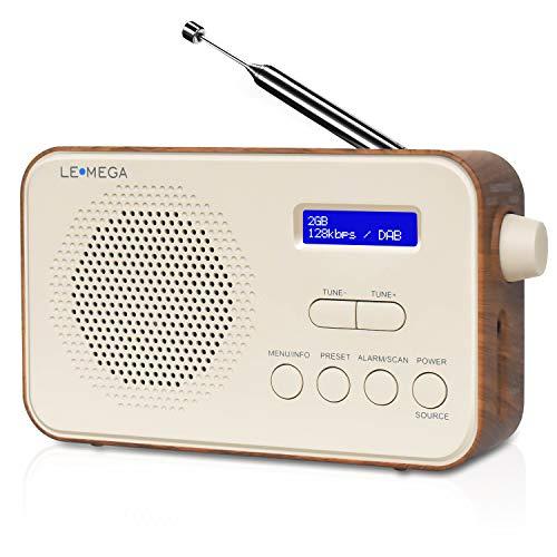 LEMEGA PR2 Radio Portátil Digital Dab/Dab+ y FM, batería portátil o alimentación...