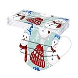 10-50 Piezas Niños_Protección Navidad,𝐌𝐚𝐬𝐜𝐚𝐫𝐢𝐥𝐥𝐚𝐬,3 Capas Con Elástico Para Los Oídos Para Impresión De Santa Seguro Suave_Protección Diaria