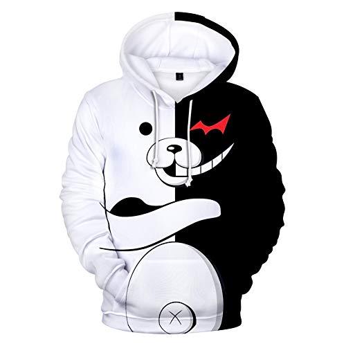 Nios Anime Danganronpa Monokuma 3D Impreso Sudadera con capucha Oso Sudadera Pullover Anime Sudadera con capucha Chaqueta Cosplay Disfraz Abrigo para nios