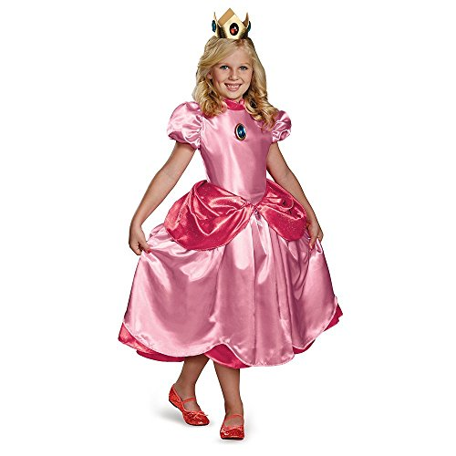 generique Costume da principessa Peach deluxe bambina 4 - 6 anni (109/126 cm)
