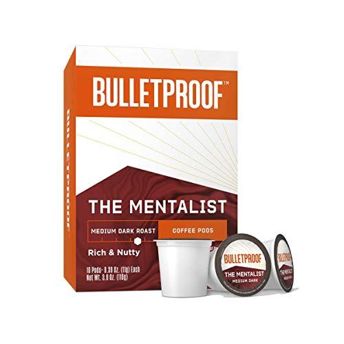 The Mentalist Single-Serve Pods, Medium Dark Roast, 10 Count, Bulletproof Keto, 100% Arabica Coffee, Certified Clean Coffee, Rainforest Alliance, Sourced from Guatemala, Columbia & El Salvador