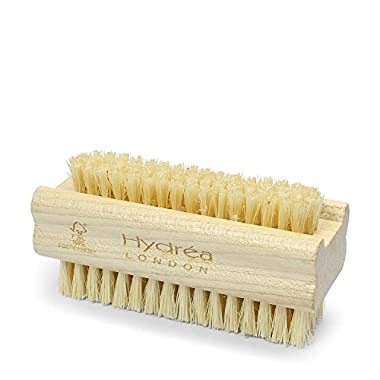 Hydrea London Extra Tough Wooden Nail Brush With Firm Cactus Bristles Dual Sided (2)
