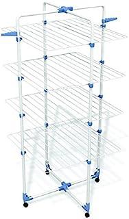 Gimi Modular 4 Tendedero de Torre Modulable, Metal, Blanco, 71x5x168.5 cm, interior