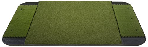 Fiberbuilt 6' x 4' Double-Sided (left and right) Golf Hitting Mat - Performance Turf Stance Mat with Nylon Fiberbuilt Grass (Double-Sided Performance Mat)