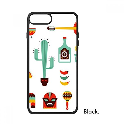 DIYthinker Sombrero Cactus Tequila Gitaar Chili Mexico Cultuur Elment Voor iPhone 7 Cases Phonecase Apple Cover Case Gift, iPhone 7 case