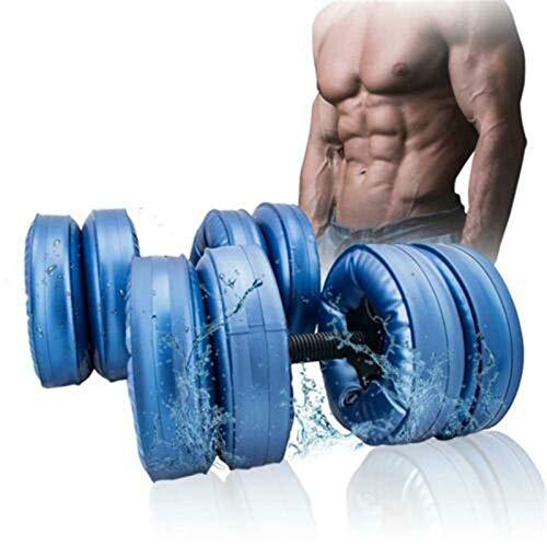 MMEET Dumbbells Portable ,Inflatable Dumbbells, Kettlebells, Home, Gym, Outdoor, Yoga, Weight Adjustable 16-20kg, Men & Women, Fitness & Shaping,Blue
