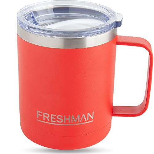 FRESHMAN aryo | 350ml Thermobecher mit Deckel Coffee to go Becher Thermo Kaffeebecher für unterwegs Isolierbecher Edelstahl Cafe to go Becher Tasse Camping Kaffee-Becher Camping Becher Coffee Mug XXL