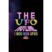 The UFO Hotline 1 900 909 Ufos: All Purpose 6x9 Blank Lined Notebook Journal Way Better Than A Card Trendy Unique Gift Purple Sparkling Sky Aliens