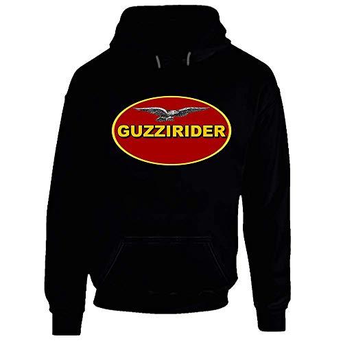 Guzzi Riders Moto Guzzi Motorrad Italien Fan Logo Club Hoodie Gr. Large, Schwarz