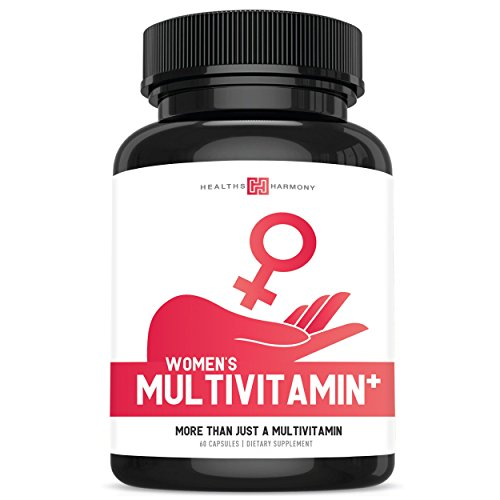 Women's Multivitamin+ (NON-GMO) Daily Vitamins & Minerals Plus Energy Boost, Hair, Eye Health & Antioxidants: With Biotin, Zinc, Selenium & Lutein - Multivitamin For Women - 60 Capsules (Multi Tablet)