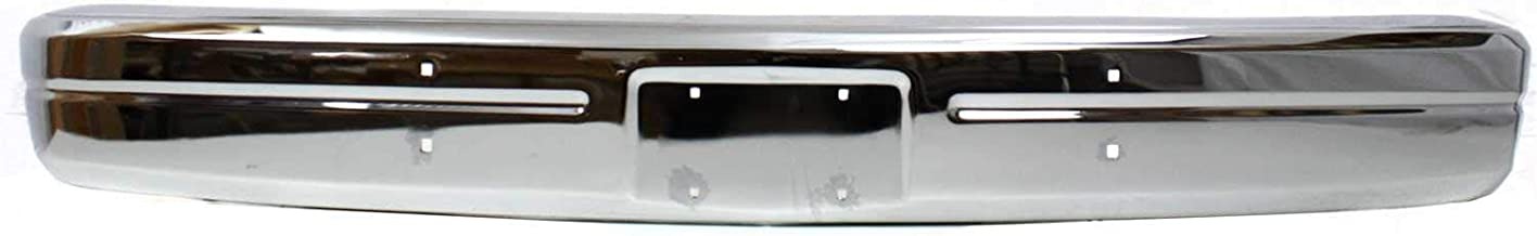 Front Bumper Compatible with DODGE FULL SIZE P/U/RAMCHARGER 1986-1993 Face Bar Chrome