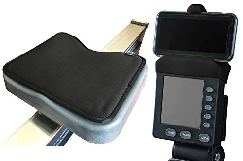 The Ultimate Rowing Machine Combo: Rowing Machine Cushion and Phone Holder Compatible with PM5 Monitor from Concept 2