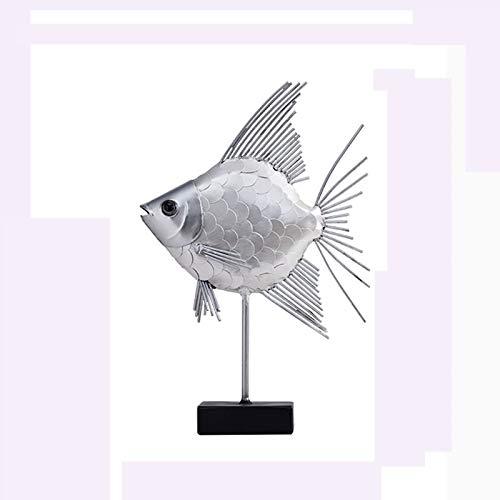 Decoración de escritorio Decoración de peces metálicos, Peces de hierro Decoración del hogar, Galería Dormitorio Oficina Artesanía Casa Metal Pescado Decoración Arte de hierro interior y al aire libre