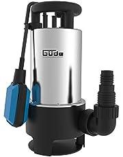 Güde 94639 Dompelpomp voor Vuilwater, GS 1103 PI, Onderdompeldiepte tot 7 M, Maximale Opvoerhoogte 8 M, 1100 W, 20000 L/H, Zilver/Blauw