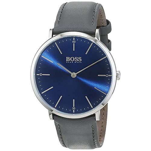 Hugo Boss Herren Datum klassisch Quarz Uhr mit Leder Armband 1513539