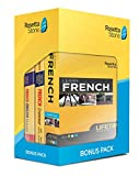 Learn French: Rosetta Stone Bonus Pack Bundle (Lifetime Online Access + Grammar Guide and Dictionary Book Set)