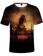 Aatensou Godzilla T-shirt met 3D-print, korte mouwen, zomer, Godzilla Vs Kong shirt, ronde hals, korte mouwen, voor jongens, meisjes