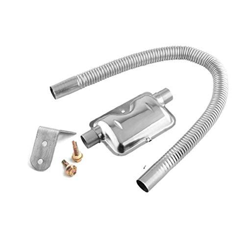 Agotar 120cm Tubo de Escape del Coche del silenciador de Tubo de Acero Inoxidable para el estacionamiento de Aire Diesel Calentadores 16.5X8.7CM