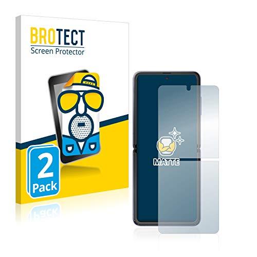 BROTECT 2X Entspiegelungs-Schutzfolie kompatibel mit Samsung Galaxy Z Flip / 5G Bildschirmschutz-Folie Matt, Anti-Reflex, Anti-Fingerprint