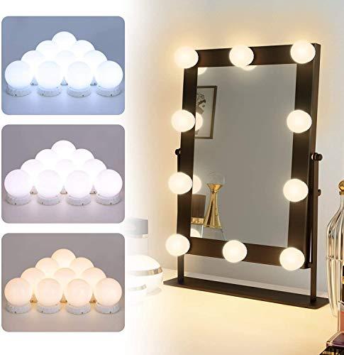 Elegear LED Spiegelleuchte Schminklicht für Schminktisch Spiegel 10 Dimmbar Spiegellampe Hollywood Spiegel Beleuchtung USB Schminktisch Leuchten für Schminkspiegel mit 3 Farbmodi 10 Helligkeitsmodi