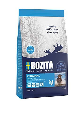 BOZITA Original Weizenfrei Hundefutter - 3.5 kg - nachhaltig produziertes Trockenfutter für erwachsene Hunde - Alleinfuttermittel