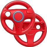 Link-e : 2 X Volante Da Corsa Rosso Compatibile Con Il Controller Wiimote Su Console Nintendo Wii/Wii-U (Volanti, Remote, Steering Racing Wheel...)